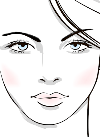 Eyelash extensions illustration