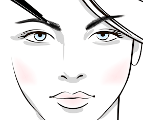 Sketch of microblading eyebrows